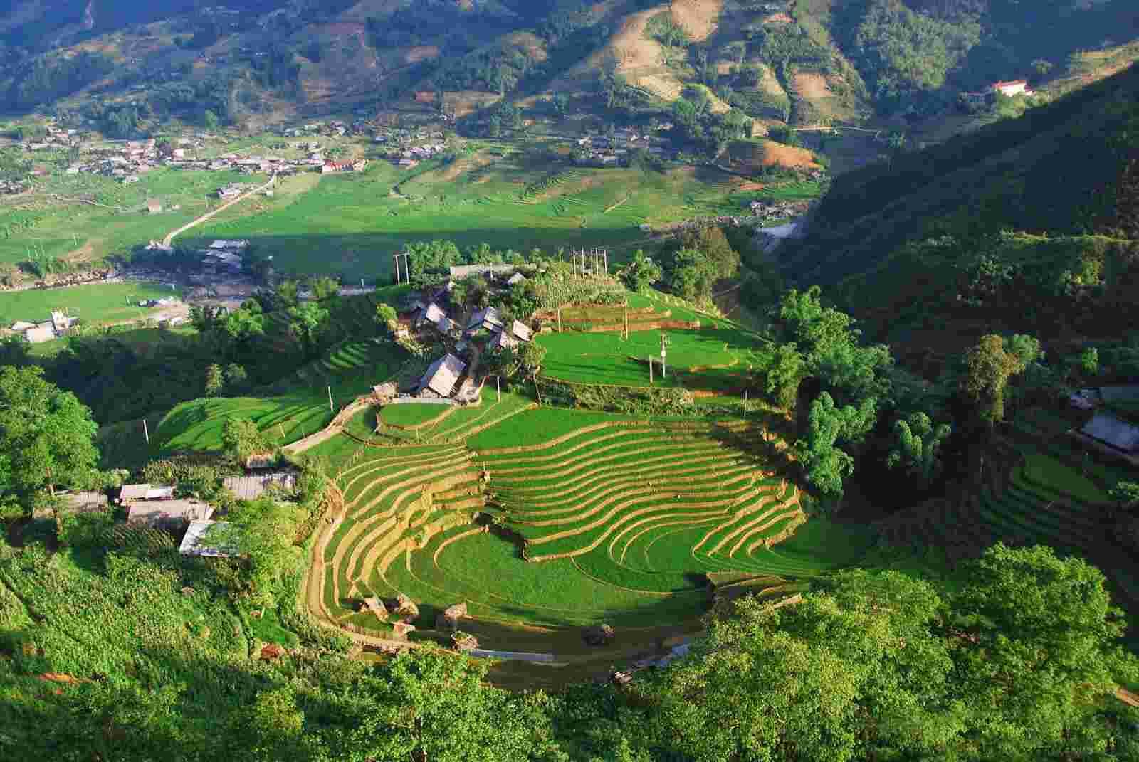 Bản Tả Van Sapa Lào Cai nhìn từ trên cao