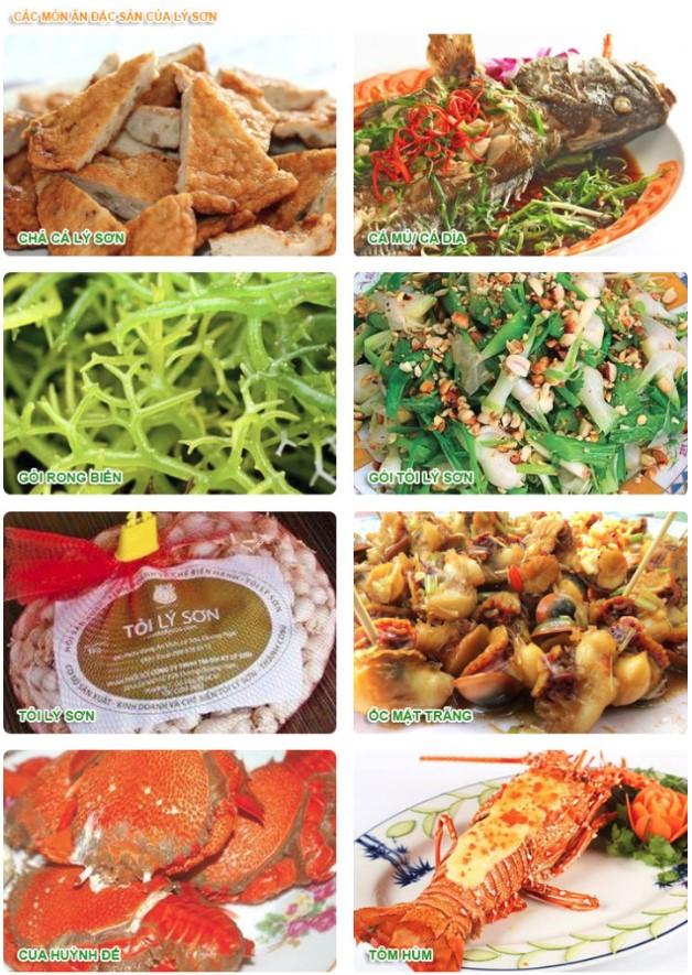 Các món ăn đặc sản của Lý Sơn