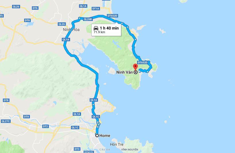 Cách đi Vịnh Ninh Vân
