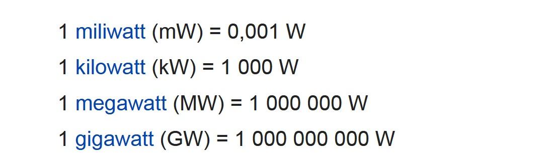 Cách quy đổi công suất 1kw bằng bao nhiêu w? 1