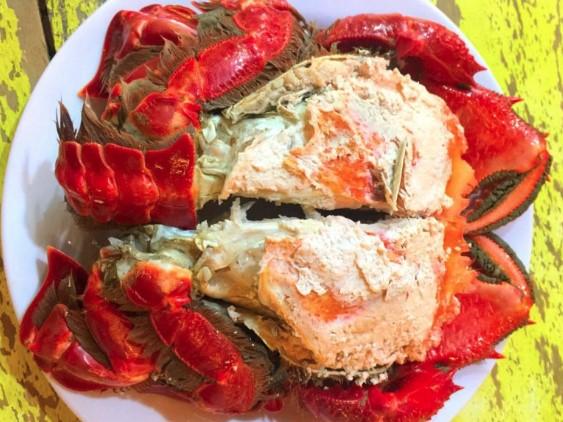 Cua huỳnh đế nướng muối ớt xanh