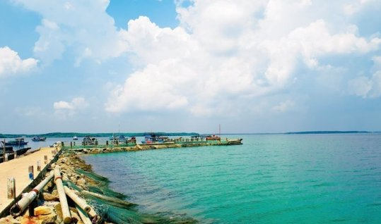 Khung cảnh yên bình trên đảo