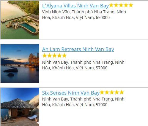 Khách sạn ở Vịnh Ninh Vân
