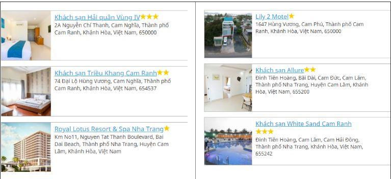 Khách sạn sân bay Cam Ranh