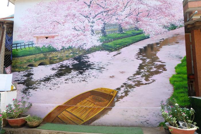 Bức tranh mang đậm văn hóa xứ sở hoa anh đào