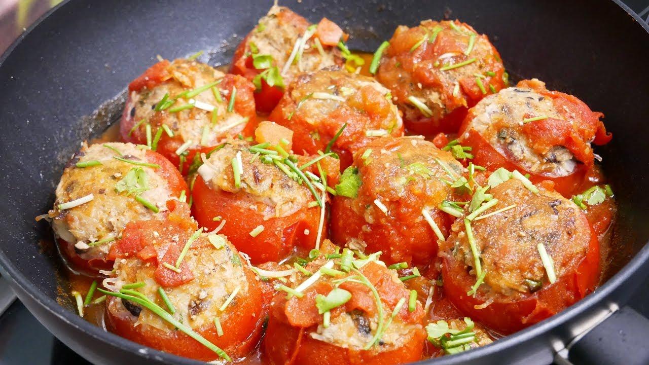 Cách làm món cà chua dồn thịt chiên giòn