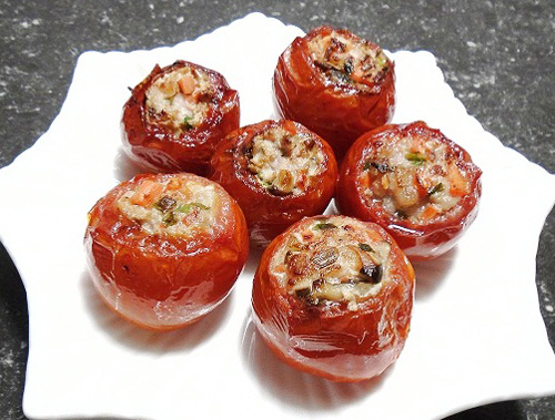Cách nấu món ăn cà chua dồn thịt hấp