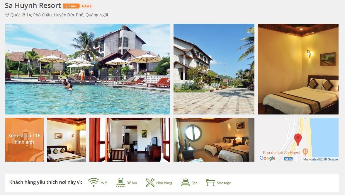 Đặt phòng tại Sa Huynh Resort