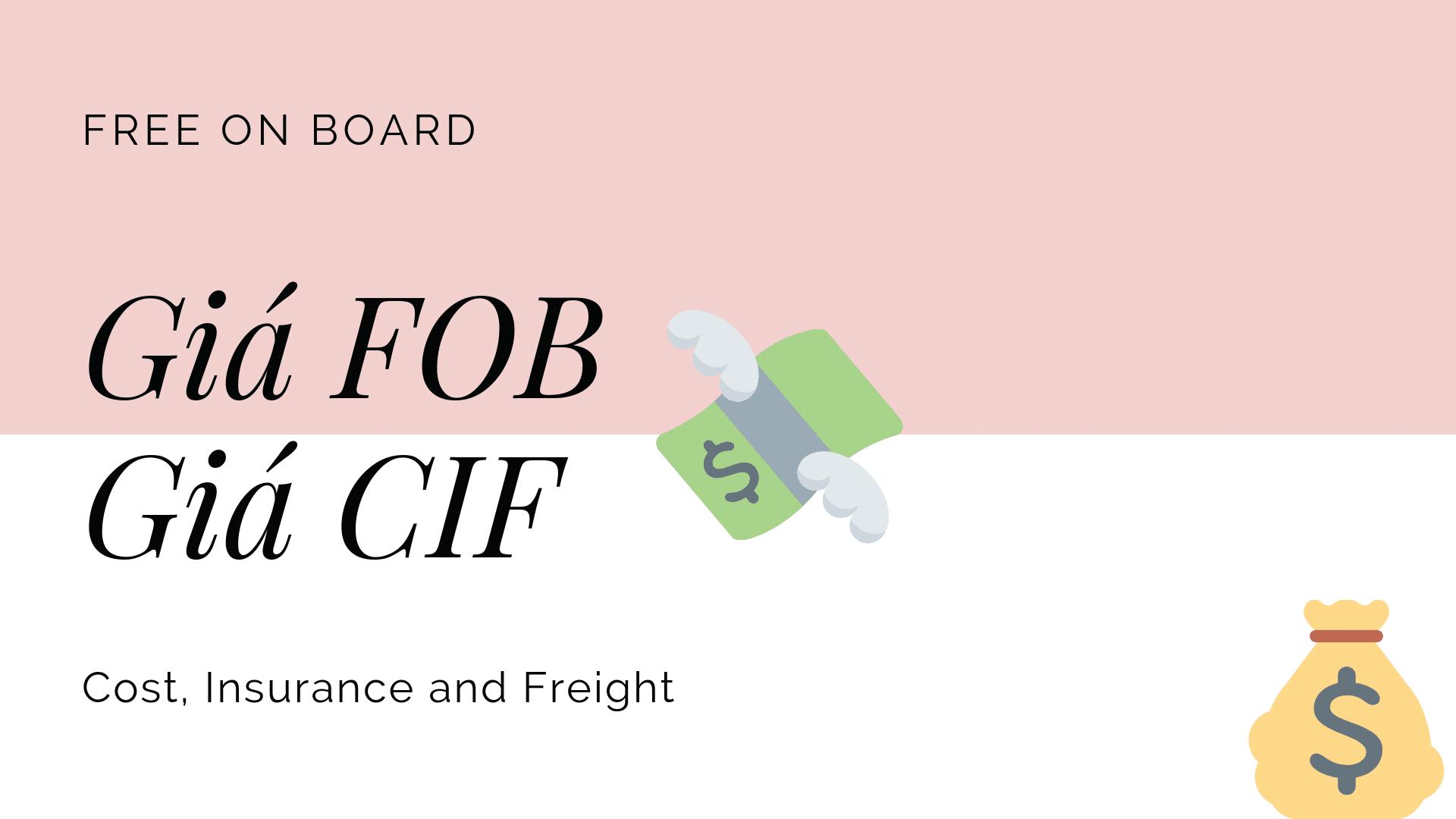 Giá CIF là gì?Giá FOB là gì?Sự khác nhau giữa CIF và FOB?