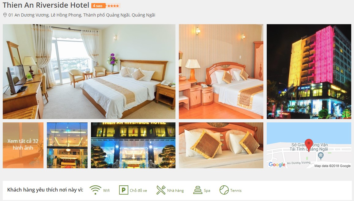 Khách sạn Thiên An Sa Huỳnh Quảng Ngãi