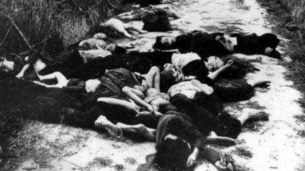 Người chết la liệt tại Sơn Mỹ
