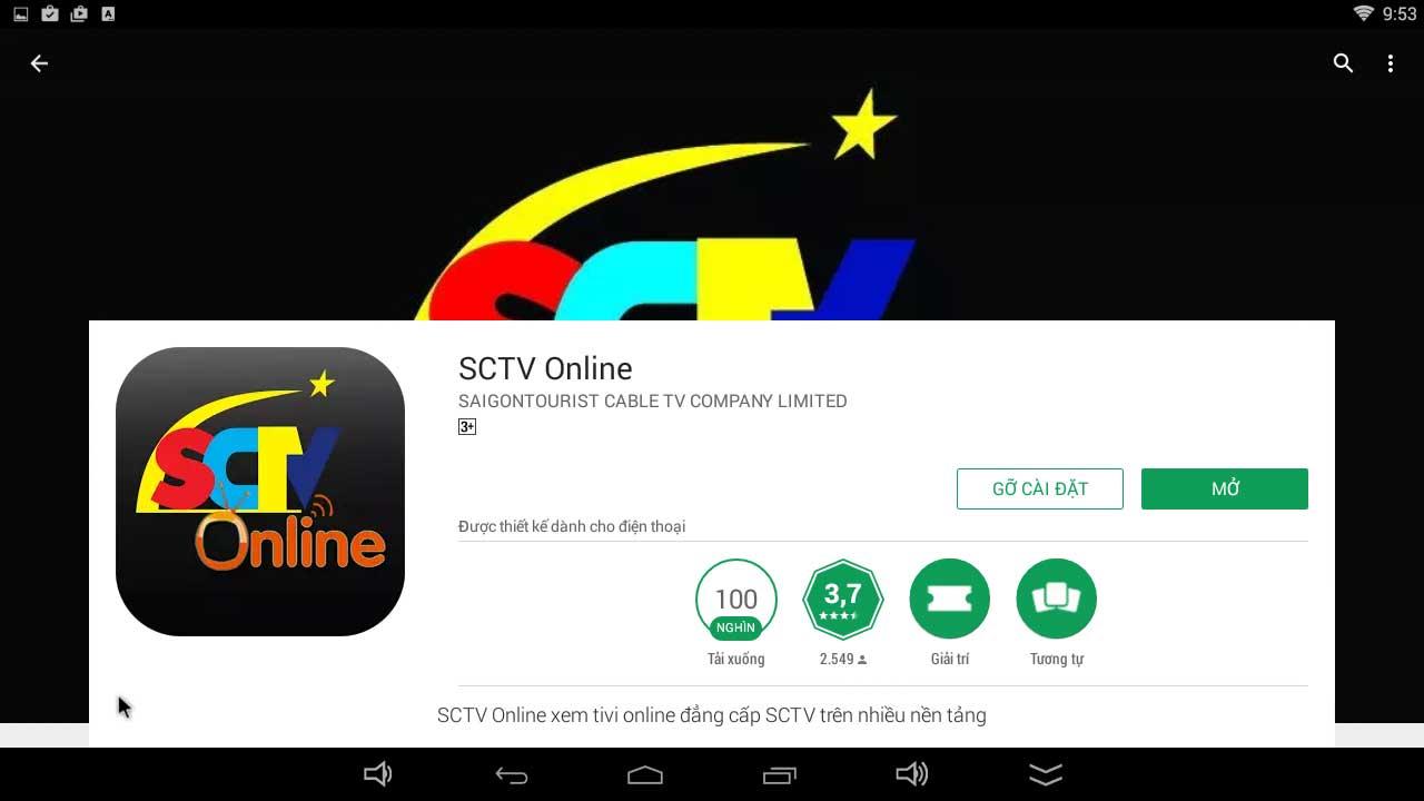 Xem SCTV online miễn phí trên Android TV Box 1