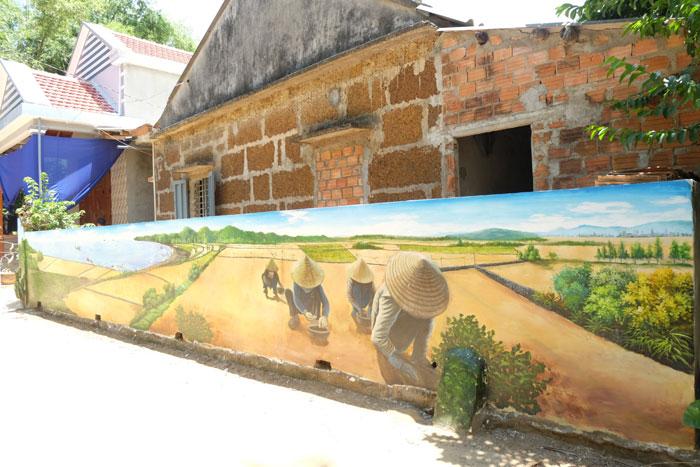 Tái hiện cảnh phụ nữ làng chài trồng hành