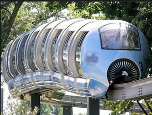 Tàu Điện Monorail Trên Không