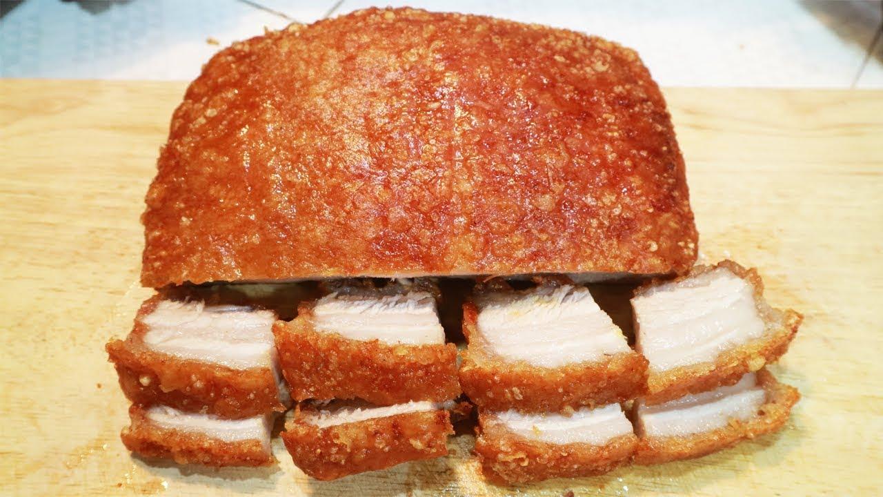 Hướng dẫn làm món thịt heo quay ngon giòn tại nhà