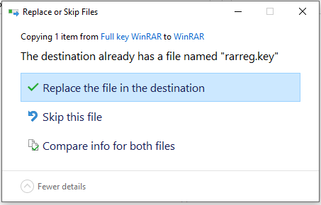 replace the file