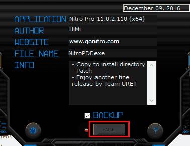 file patch nitro pro